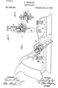 #269,968 - Bench Plane (Jacob Siegley) (1883)