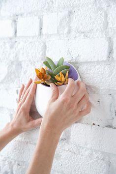 DIY wall planters | designlovefest