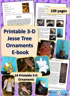 Printable Jesse Tree Ornaments