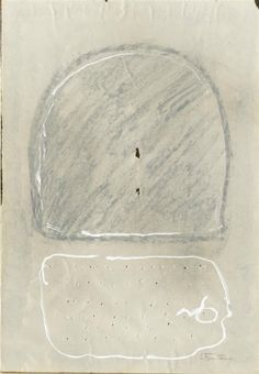 Lucio Fontana, Concetto Spaziale II, Mixed media. 1952-1953.