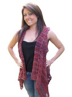 Front Tails Crochet Vest pattern