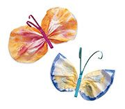 Watercolor Butterflies - these are easy to make and you can come up with some wonderful patterns!