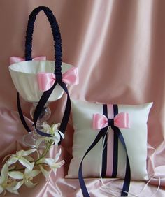 flower girl basket and ring pillow