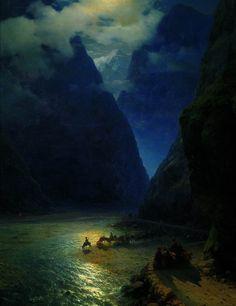 Darial Gorge, 1862  Ivan Aivazovsky