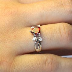 Ruby Heart Ring - Red Cubic Zirconia Promise Ring