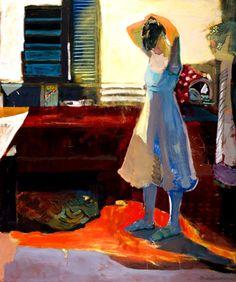 "Linda Christensen: ""Fixing Hair in Kitchen"" at Gail Severn Gallery"