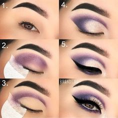 Ideas for eye makeup # makeup # eyeshadow # eyeliner ma - make_up_pintennium Eye Makeup Steps, Simple Eye Makeup, Smokey Eye Makeup, Eyeshadow Makeup, Makeup Tips, Eyeshadow Ideas, Makeup Ideas, Makeup Mascara, Beauty Makeup