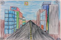 Art with Ms. Gram: One-Point Perspective City Streets (5th)