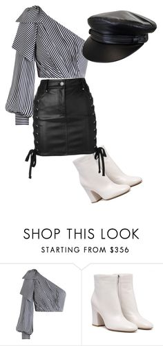A fashion look from August 2017 featuring cropped shirts, short skirts and leather booties. Browse and shop related looks. Leather Skirt, Shoe Bag, Skirts, Polyvore, Stuff To Buy, Shopping, Collection, Shoes, Design
