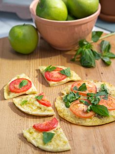 Crispy Personal Pita Pizzas recipe from Jeff Mauro via Food Network