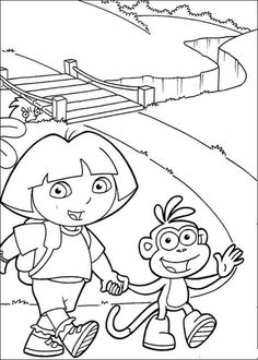 Hold Hand Coloring Page From Dora The Explorer Category Select 24177 Printable Crafts Of