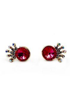 Super mini crystal crown earrings
