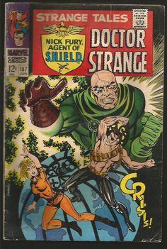 STRANGE TALES #151 VG/Fine- STERANKO wrties&drawsSHIELDMarvelComic'66 DR STRANGE