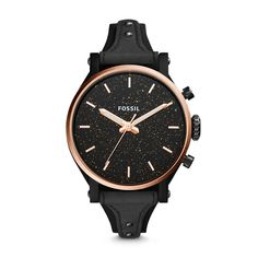 A bright (wrist) idea—we've reimagined the Original Boyfriend to bring more joy to her style. Cleverly constructed, this three-hand flaunts a shimmering dial with shiny rose gold-tone details, decked in a black leather saddle strap.