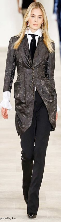 Ralph Lauren Fall 2016 RTW l Ria women fashion outfit clothing style apparel @roressclothes closet ideas