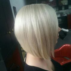 Platinum graduated bob