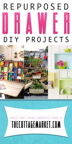 Repurposed Drawer DIY Projects - The Cottage Market