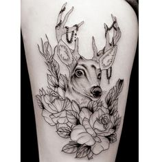 Cheap paint polyurethane, Buy Quality tattoo eyebrow directly from China tattoo kit Suppliers: 3D Black Deer and Flowers Temporary Tattoos Paster Arm Tattoo Stickers Waterproof Body Paint Man Leg Thigh Waist Tattoo