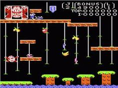In game image of Donkey Kong Junior on the Atari 7800.