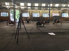 Backstage at the filming day for the Xtreme Cardio and Fat Burning Workout DVD