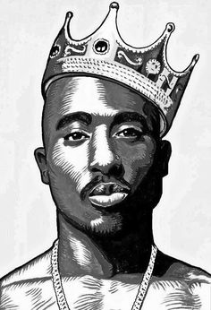Tupac Shakur Art The King of Rap Respect Tupac Shakur, Arte Do Hip Hop, Hip Hop Art, Tupac Art, Mode Hip Hop, Rapper Art, Dope Art, Art Graphique, Rap Music
