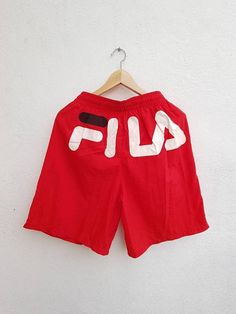 Vintage 90s FILA Spell Out Giant Back Graphic Printed Boards