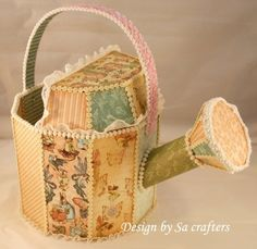 Love this altered watering can from Natticha Anderson using Once Upon a Springtime! Wow!