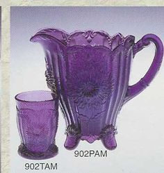 Purple Fenton Glass, made in West Virginia