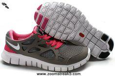 Nike Free Run 2 Gray Fuchsia Womens 443815-109 For Wholesale