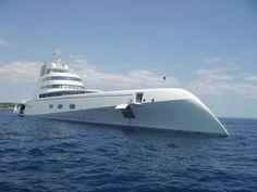 A Mega Yacht