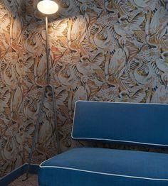 Hand painted wallpaper @Hôtel Paradis - Paris, France