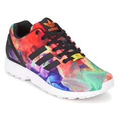 Baskets Femme Spartoo, acaht Baskets basses adidas Originals ZX FLUX W Multicolore prix promo Spartoo 99.99 € TTC