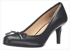 070a05e50f4 Nine West Women s Black Love Ache Black Leather Pumps