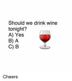 It doesn't really matter what day of the week it is, wine always sounds like a good idea to me. Whether you like a glass of wine with dinner or an entire bottle during a girls night in, you'll love these funny wine memes. Wine Jokes, Wine Meme, Wine Funnies, Drinking Quotes, Wine Night, Wine Wednesday, Wine Parties, In Vino Veritas, Way Of Life