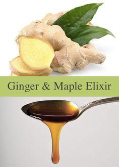 Ginger & Maple Elixir For Belly Bloat...http://improvedaging.com/ginger-maple-elixir-for-belly-bloat/