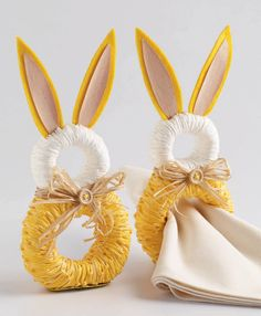 Easter chick embellished childrens apron easter bunny tabletop rabbit napkin rings negle Image collections