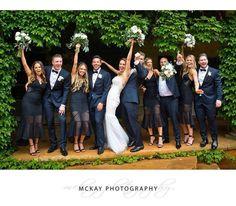 Ali & Jack's bridal party = awesome crew having so much fun #meetthebosdens #mckayphotography #bendooleyestate @bendooleyestate