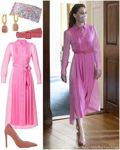 Looks Kate Middleton, Kate Middleton Dress, Kate Middleton Prince William, Prince William And Catherine, Estilo Kate Middleton, Lady Diana, Everyday Princess, Kate And Meghan, Silk Shirt Dress