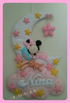 Baby Mobile, Baby Nursery Decor, Disney, Feltro, Door Hangings, Slab Doors, Rag Dolls, Pink, Craft