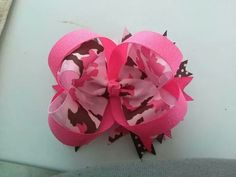 Pink camo stacked bow