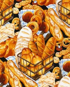 Boulangerie - Freshly Baked Bread - Quilt fabric from www.eQuilter.com