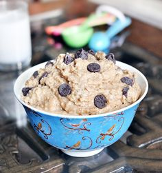 [I've had this with the chick pea's. It is delicious!] Healthy Cookie Dough Dip... the famous recipe! http://chocolatecoveredkatie.com/2011/05/23/want-to-eat-an-entire-bowl-of-cookie-dough/