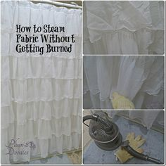 How to steam fabric without getting burned- PlumDoodles.com