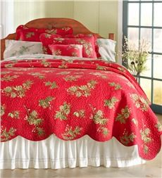 This would be fun for Christmas time.  King Peaceful Pine Cotton Quilt Set