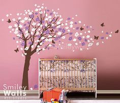 Hey, I found this really awesome Etsy listing at http://www.etsy.com/es/listing/81053610/flower-tree-and-butterflies-in-the-wind