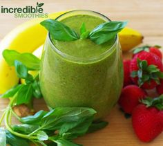 Strawberry-Basil Green Smoothie Recipe on Yummly