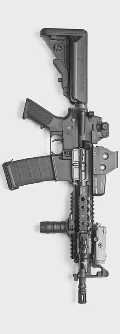 carbine rifle - inspired build with a Centurion Arms rail and upper, Eotech SureFire and Magpul PMAG Military Weapons, Weapons Guns, Airsoft Guns, Guns And Ammo, Survival Weapons, Shotguns, Armes Futures, Fire Powers, Home Defense