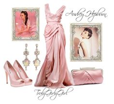 """Audrey Hepburn"" by trulygirlygirl ❤ liked on Polyvore featuring Daydreamer, Glint, Elie Saab and Miu Miu"