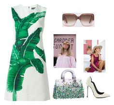 """Untitled #4431"" by hanii-omachiss ❤ liked on Polyvore featuring Dolce&Gabbana and Lust For Life"