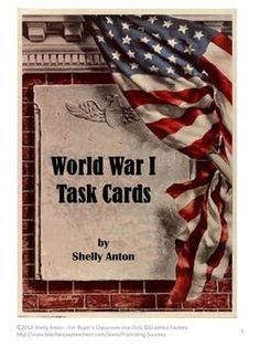 Here is a set of 50 task cards focusing on World War I. The student answer keys are grouped into five problems per key to allow for frequent checks and immediate feedback. Student response sheets are also provided with five questions per sheet. The teacher key has all 50 answers on one page.